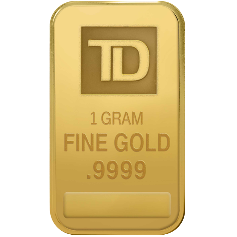 Image for 1 gram TD Gold Bar from TD Precious Metals