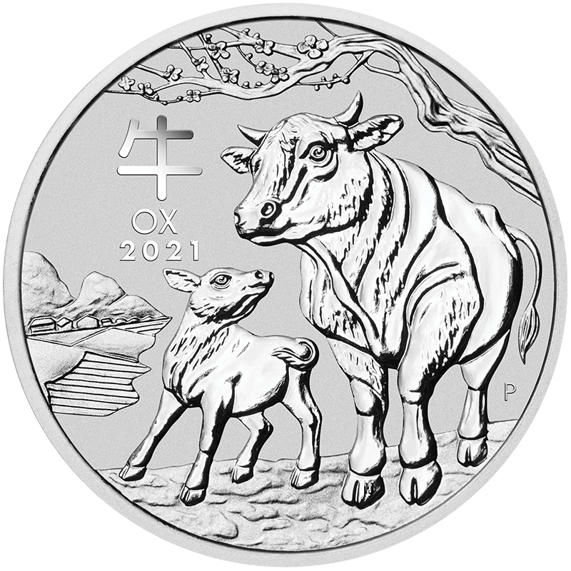 Image for 1 kg Australian Silver Lunar Ox Coin (2021) from TD Precious Metals