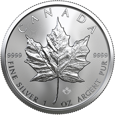 A picture of a 1 oz. Silver Maple Leaf (2019)