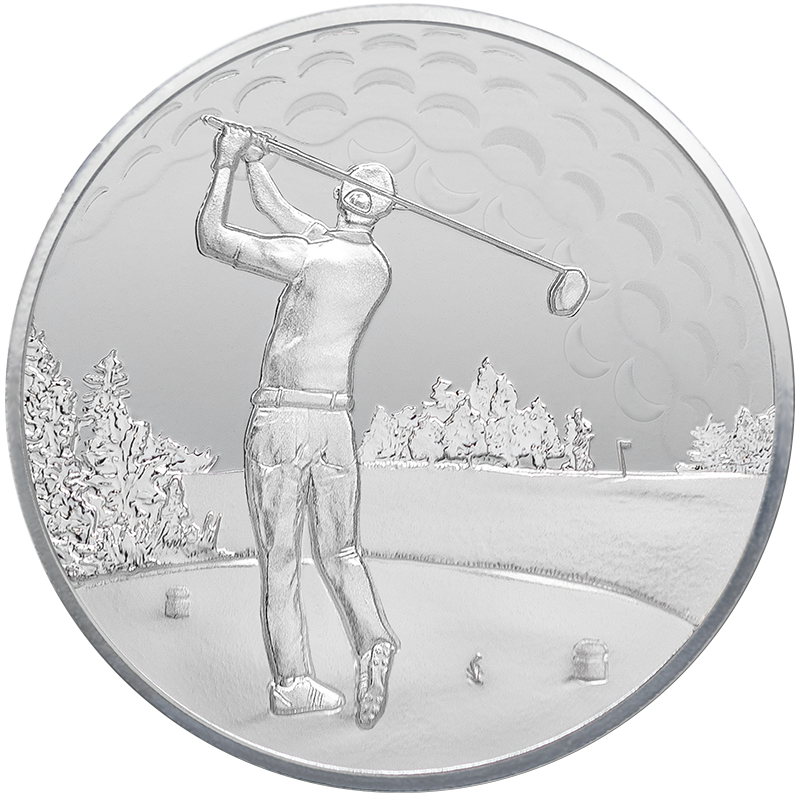 Image for 1oz. TD Silver Golfer's Round from TD Precious Metals