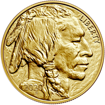 A picture of a 1 oz. Gold United States Buffalo (2020)