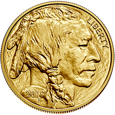 A picture of a 1 oz. Gold United States Buffalo (2019)