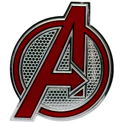 A picture of a Marvel 1 oz Silver Avengers Logo Coin (2020)