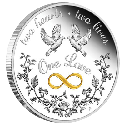 A picture of a 1 oz One Love Silver Proof Coin (2020)