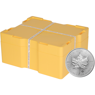 A picture of a 1 oz 2020 Silver Maple Leaf Monster Box (500 Pieces)