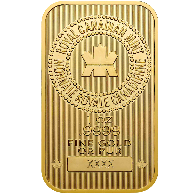 Image for 1 oz. Royal Canadian Mint Gold Bar from TD Precious Metals