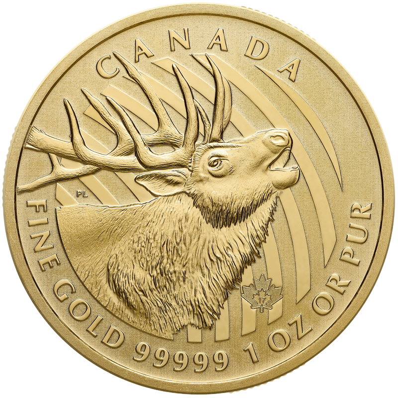 "Image for 1 oz. Royal Canadian Mint Gold Coin ""Call of the Wild"" series Elk (2017) from TD Precious Metals"