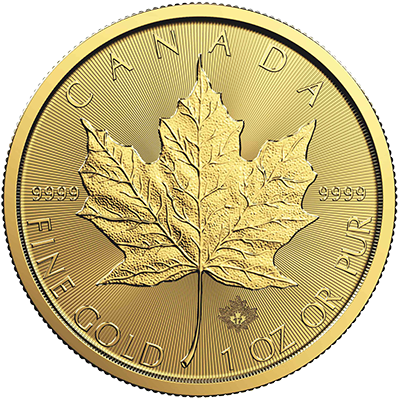 A picture of a Circulated 1 oz Gold Maple Leaf Coin (Random Year)