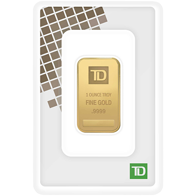 A picture of a Circulated 1 oz TD Gold Bar