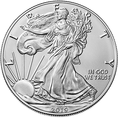 A picture of a 1 oz Silver American Eagle (Random Year)