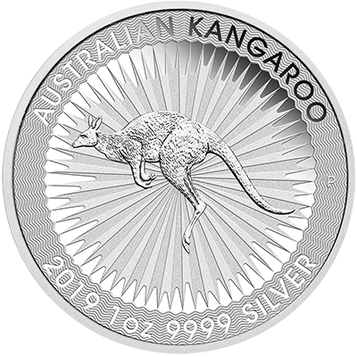 A picture of a 1 oz. Silver Australian Kangaroo (2019)