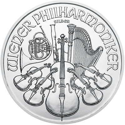 A picture of a 1 oz. Silver Austrian Philharmonic (2019)