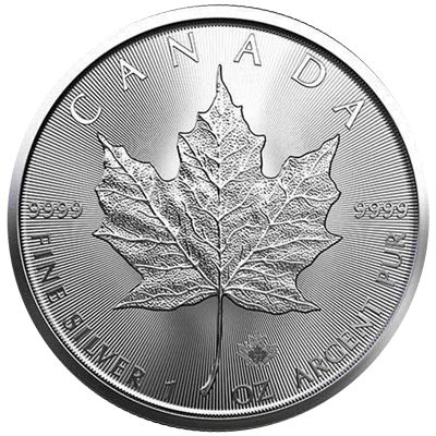 A picture of a 1 oz. Silver Maple Leaf Coin (2021)