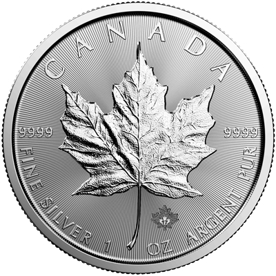 A picture of a 1 oz. Silver Maple Leaf (Random Year)