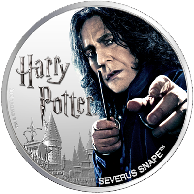 A picture of a 1 oz Silver Serverus Snape Coin (2020)