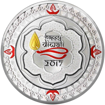 A picture of a 1 oz. TD Diwali Silver Round (2017)
