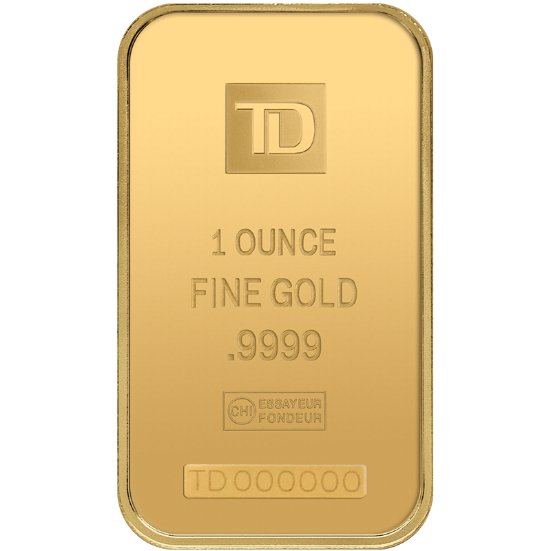 1 Oz Td Gold Bar Precious Metals