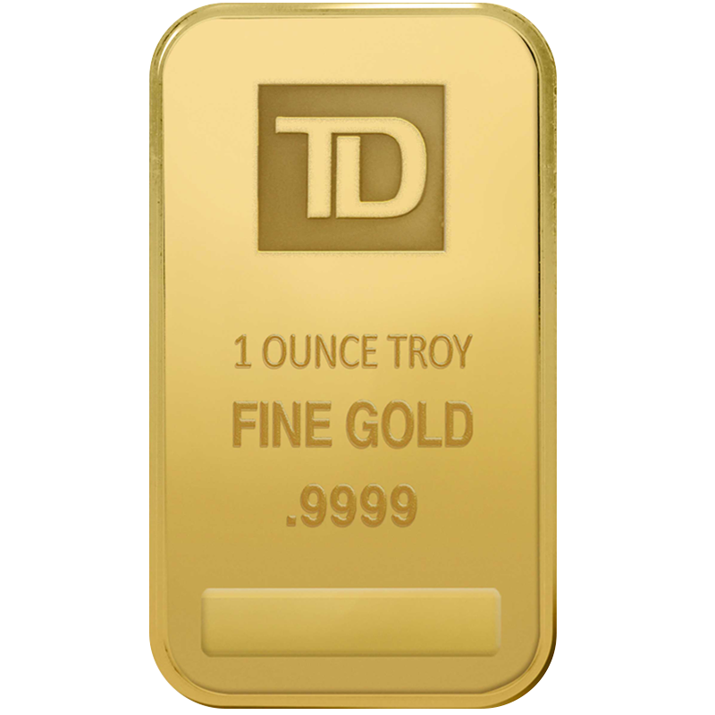 Image for 1 oz. TD Gold Bar from TD Precious Metals
