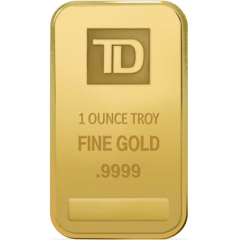 1 oz  TD Gold Bar | TD Precious Metals