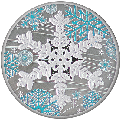 A picture of a 1 oz. TD Holiday Silver Round