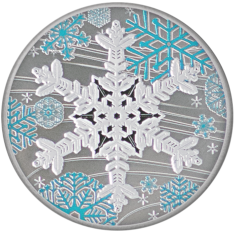 Image for 1 oz. TD Holiday Silver Round from TD Precious Metals