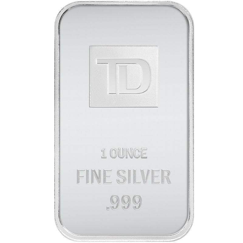 Image for 1 oz. TD Silver Bar from TD Precious Metals