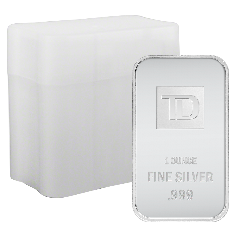 Image for 1 oz TD Silver Bar Tube (20 Pieces) from TD Precious Metals