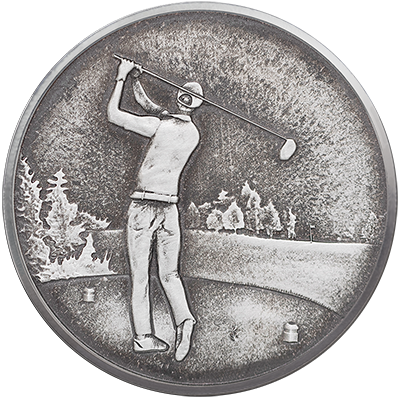 A picture of a 1oz. TD Silver Ball Marker