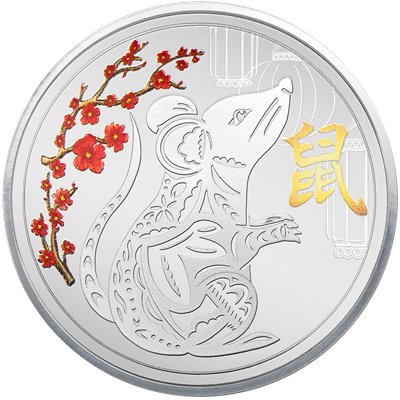 A picture of a 1 oz. TD Year of the Prosperous Rat Silver Round