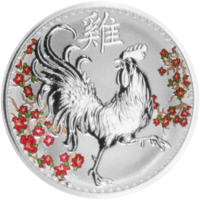 A picture of a 1 oz. TD Year of the Rooster Silver Round