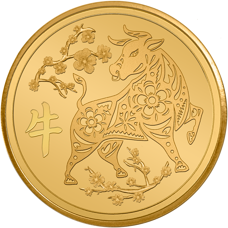 Image for 1/10 oz. TD Year of the Auspicious Ox Gold Round from TD Precious Metals