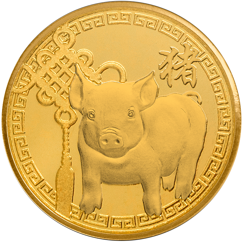Image for 1/10 oz. TD Year of the Pig Gold Round from TD Precious Metals