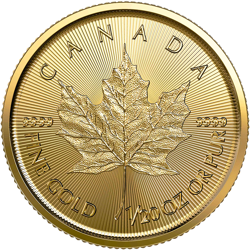 Image for 1/20 oz Gold Maple Leaf Coin (2020) from TD Precious Metals