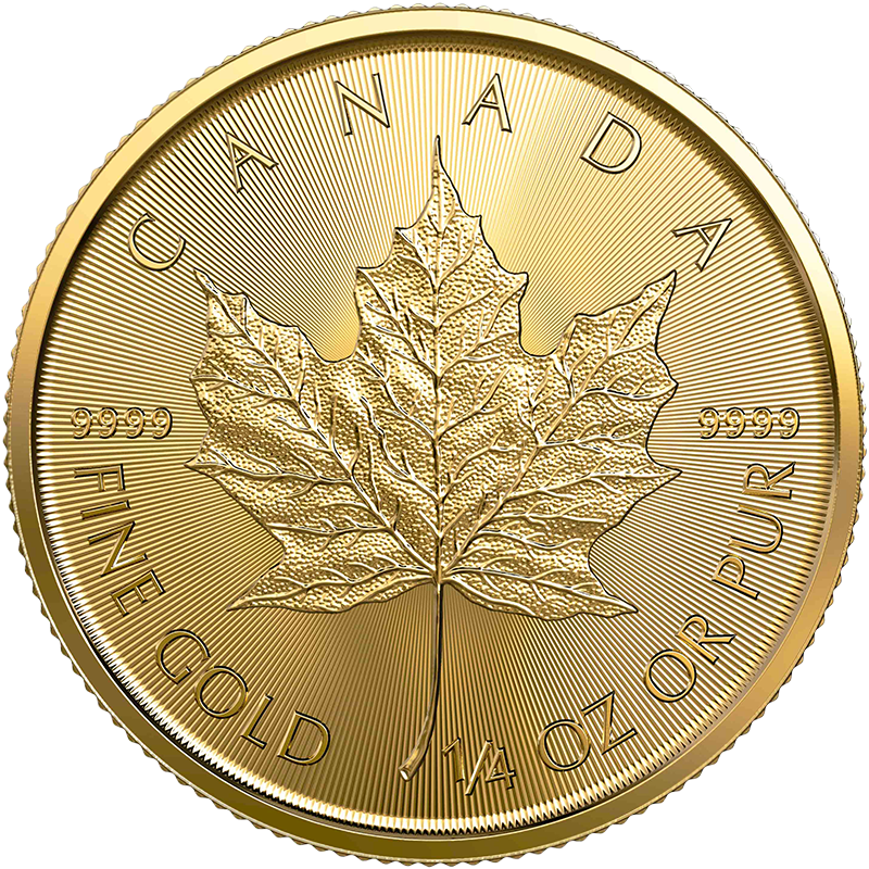 Image for 1/4 oz Gold Maple Leaf Coin (2020) from TD Precious Metals