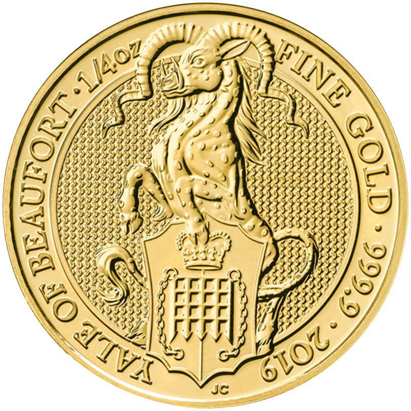Image for 1/4 oz Queen's Beast Yale of Beaufort Gold Coin (2019) from TD Precious Metals
