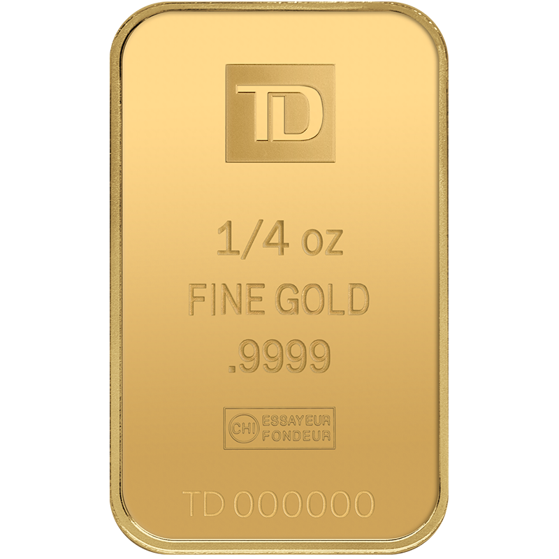 Image for 1/4 oz TD Gold Bar from TD Precious Metals