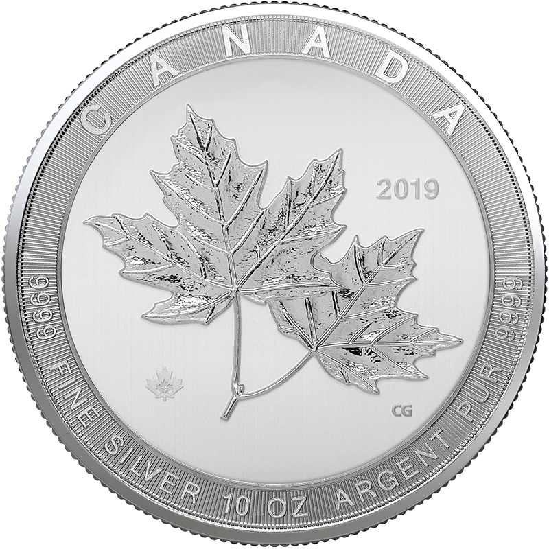 Image for 10 oz  Silver Magnificent Maple Leaf (2019) from TD Precious Metals