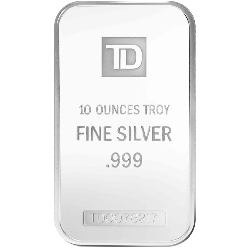 Image for 10 oz. TD Silver Bar from TD Precious Metals