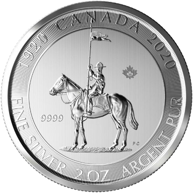 Image for 2 oz 100th Anniversary Silver Royal Canadian Mounted Police (2020) from TD Precious Metals