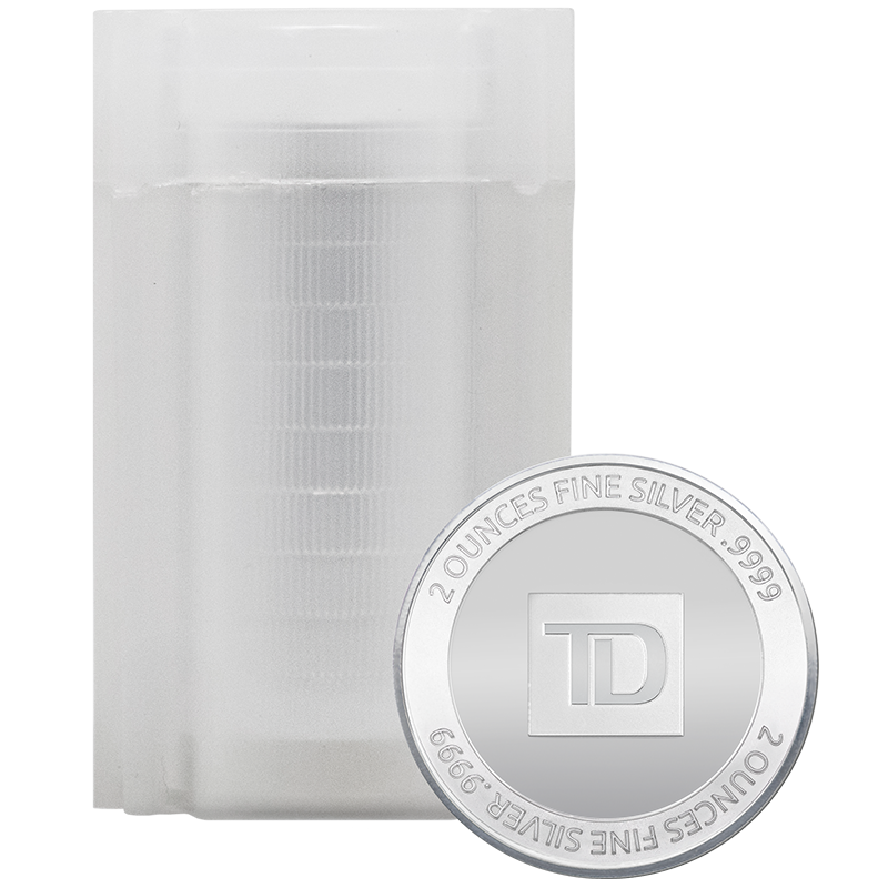 Image for 2 oz. TD Silver Round Tube (10 pieces) from TD Precious Metals