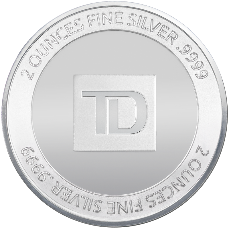 Image for 2 oz. TD Silver Round from TD Precious Metals