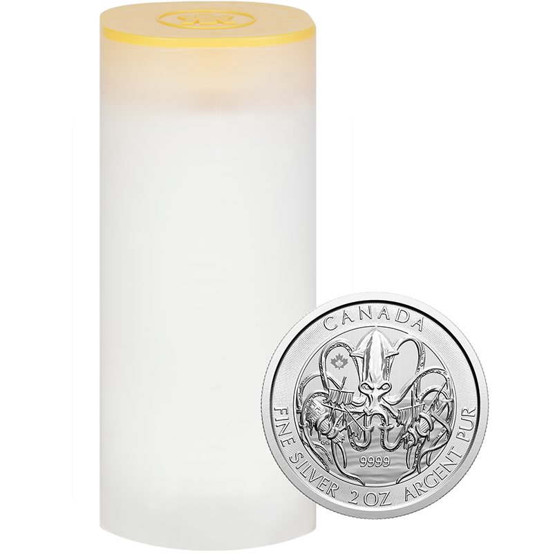Image for The Kraken Creatures of the North 2 oz Silver Tube (14 Pieces) from TD Precious Metals