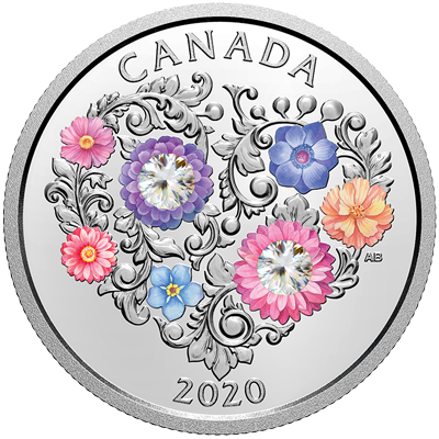 A picture of a 1/4 oz Celebration of Love Silver Coin (2020)