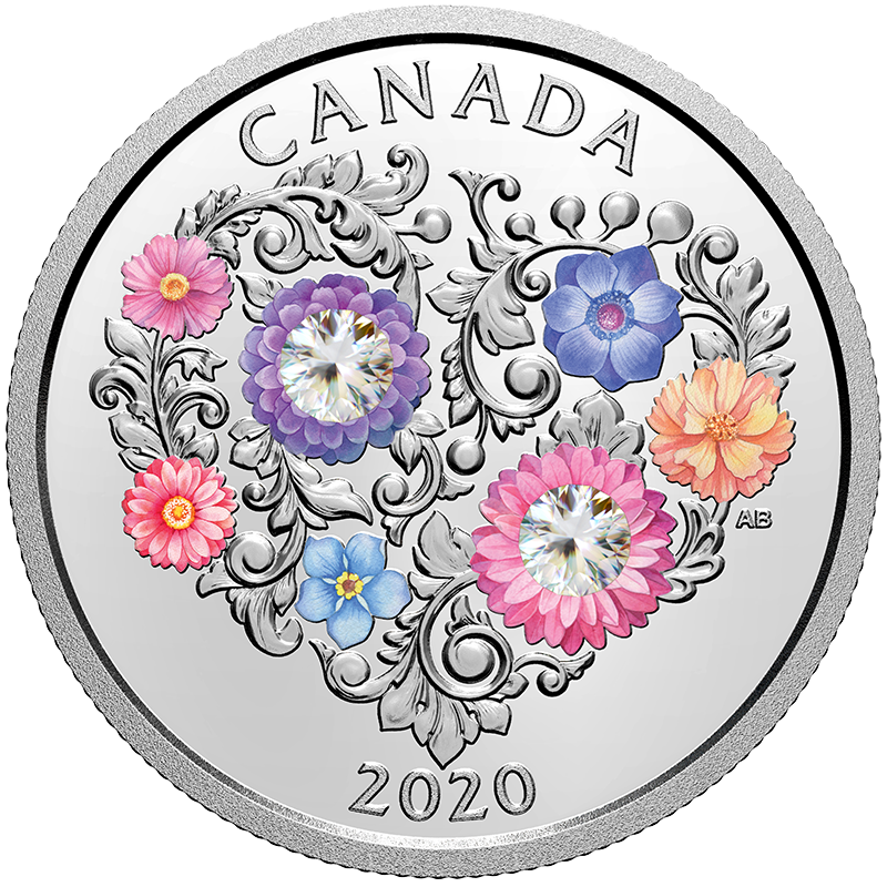 Image for 1/4 oz Celebration of Love Silver Coin (2020) from TD Precious Metals