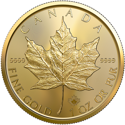 A picture of a 1 oz. Gold Maple Leaf Coin (2020)
