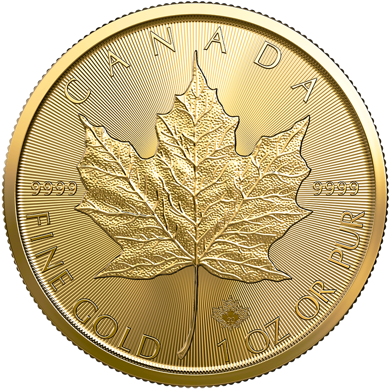 Image for 1 oz. Gold Maple Leaf Coin (2020) from TD Precious Metals