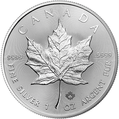A picture of a 1 oz. Silver Maple Leaf Coin (2020)