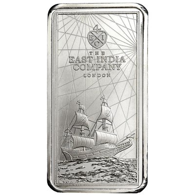 A picture of a 250 gram Saint Helena Silver Coin-Bar (2021)