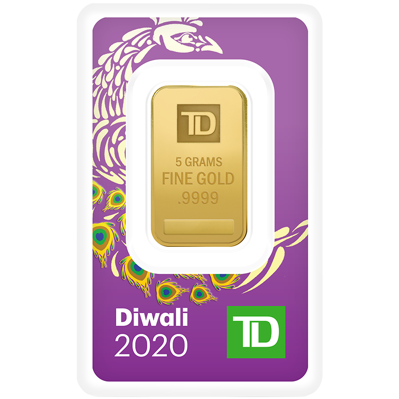 Image for 5 gram TD Diwali Gold Bar (2020) from TD Precious Metals