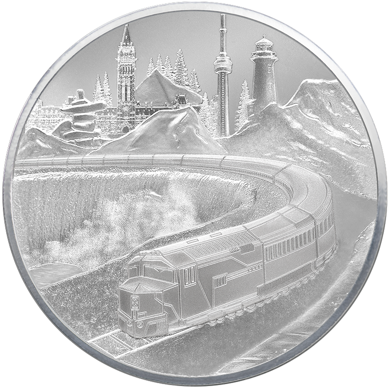 Image for 5 oz. TD Coast-to-Coast Silver Round from TD Precious Metals